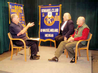 TV interview with Midland Kiwanis Presidents